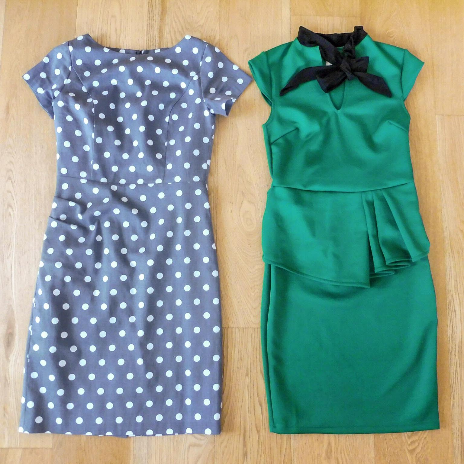 7fafcd6a57 A pöttyös ruha a képen sima szürkének tűnt, élőben egy kicsit kékes  árnyalata van, ami csak még szebbé teszi. A legkisebb méretet, a 34-eset  rendeltem, ...
